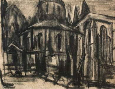 David Bomberg, 'The Round Church, Middle Temple', 1944