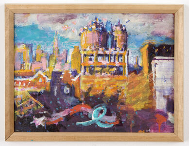 Paul Thek, 'Untitled (rooftop / water towers)', ca. 1987