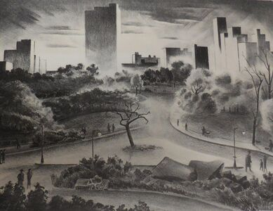 "Adolf Arthur Dehn, '""Afternoon in Central Park""', 1937"