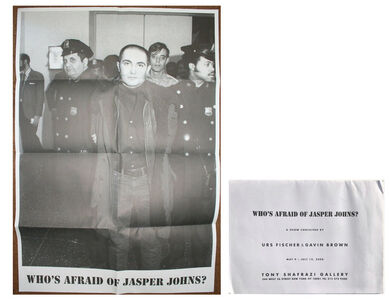 "Sue Williams, '""Who's Afraid of Jasper Johns ?"", Group Exhibition Poster, Tony Shafrazi Gallery NYC', 2008"