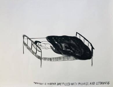 Chris Johanson, 'Untitled (Tomorrow is another day filled with promise and letdowns)', 2003