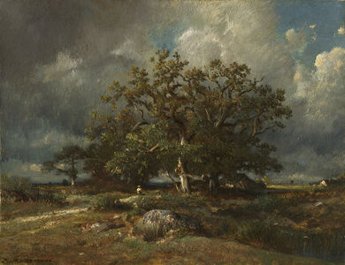 Jules Dupré, 'The Old Oak', ca. 1870