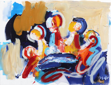 Ash Almonte, 'Red Orange Yellow Blue Crown', 2019