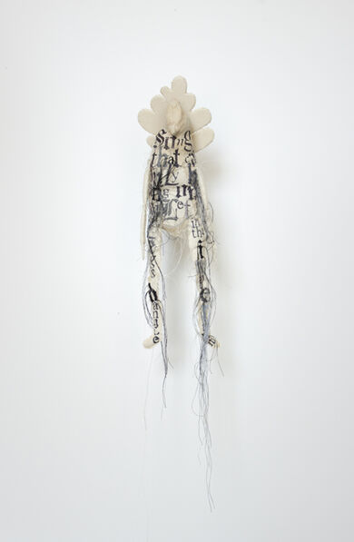 """Lesley Dill, 'Beige Big Butt Bird Puppet #1 """"Song That Can Only Be Sung Once,"""" Tom Sleigh """"So Let Your Legs Dangle in the Imperium""""', 2013"""