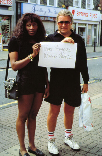Gillian Wearing, 'Signs that say what you want them to say and not Signs that say what someone else wants you to say (Work towards world peace)', 1992-1993
