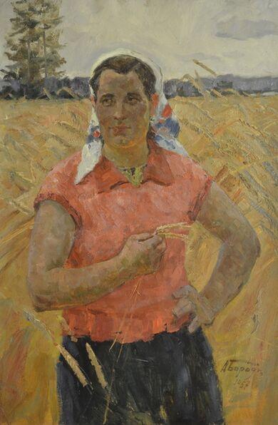 Aleksey Ivanovich Borodin, 'Peasant', ca. 1955