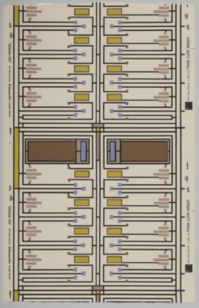 Frank Lloyd Wright, 'Design 105', 1957