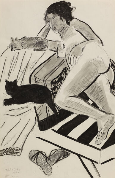 Joan Brown, 'Model with Cats ', 1972