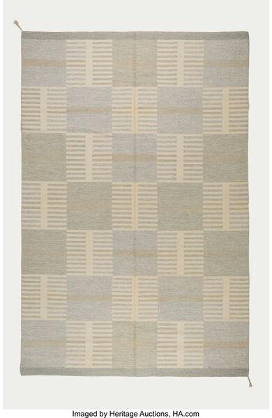 Carl Malmsten, 'Geometric Flat-Weave Carpet', circa 1950