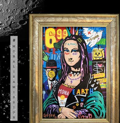 "JISBAR - ""Punk Mona"" First Painting In Space, installation view"
