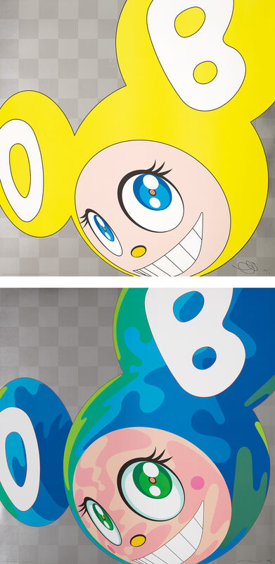 Takashi Murakami, 'And then and then and then and then and then (Yellow); and Melting DOB A', 1999, Print, Two offset lithographs in colours, on smooth wove paper, the full sheets., Phillips