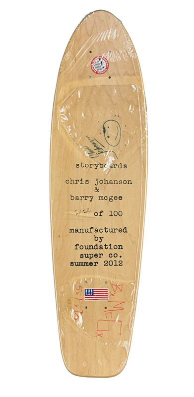 Barry McGee, 'And Your Friends are My Friends', 2012, Sculpture, Transfer printed wood skateboard deck, Rago/Wright