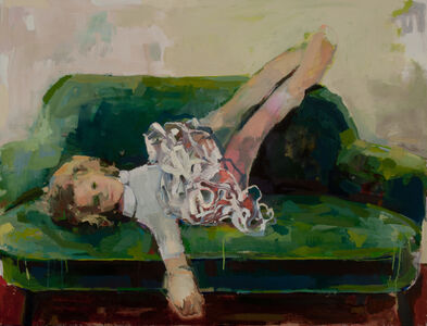 Devorah Jacoby, 'Green Couch', 2019