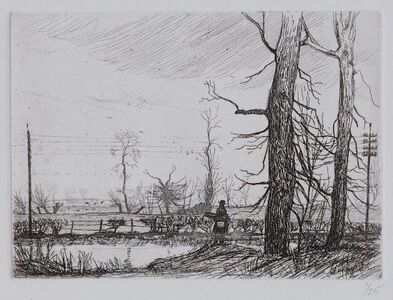 Bernard Leach, 'Winter landscape, Harefield'