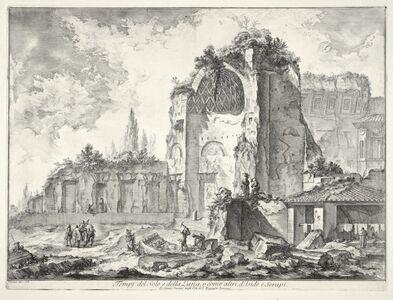 Giovanni Battista Piranesi, 'Tempj del Sole e della Luna, o come altri, d'Iside e Serapi', 1748-1749