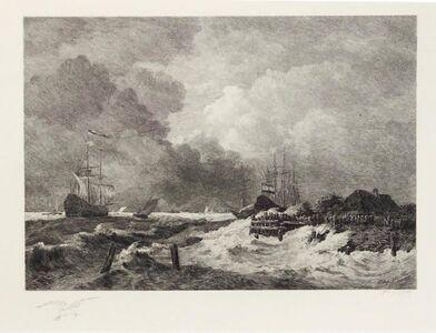 Paul Huet, 'La tempête (The Storm) [with] Brisants, Granville (Breakers, Granville)', 1903