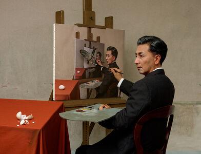 Yasumasa Morimura, 'Self-Portraits through Art History (Magritte / Triple Personality)', 2016