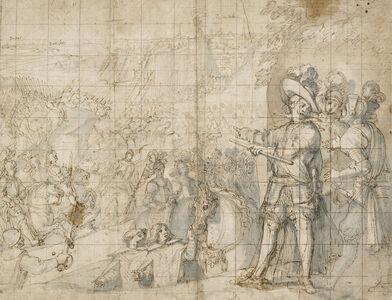 Vicente Carducho, 'The Duke of Feria at the Siege of Rheinfelden', 1634