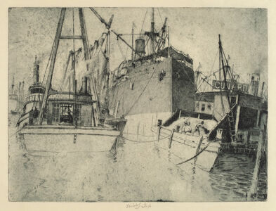Charles Frederick William Mielatz, 'Chelsea Docks, Loading the Ship', 1907