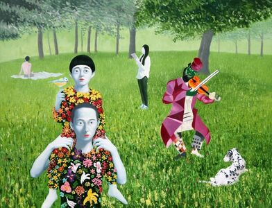 Woo-lim Lee, 'A Walk', 2015