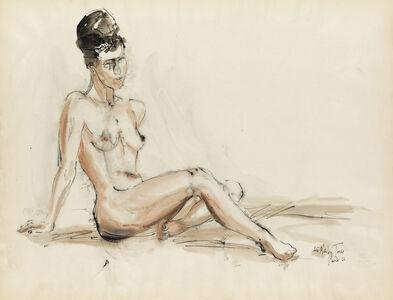 Lois Mailou Jones, 'Untitled (Reclining Nude).', 1966