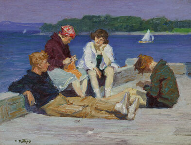 Edward Henry Potthast, 'Beach Scene #4', ca. 1920