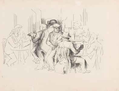 Charles Wheeler Locke, 'Cafe Scene', circa 1930