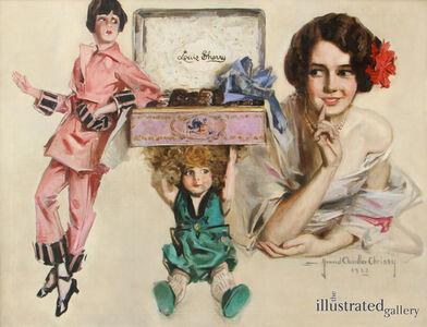 Howard Chandler Christy, 'Louis Sherry Chocolates Advertisement', 1923
