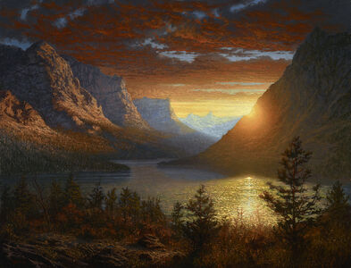 Ken Salaz, 'Majestic Landscape - St. Mary's Lake', 2019