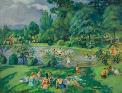 Martha Walter, 'The Swimming Pool - Huntingdon Valley, Pennsylvania', 19th -20th Century