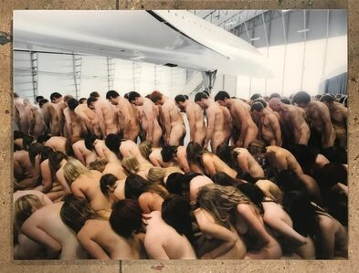 Spencer Tunick, 'Manchester England (Concorde)', 2010