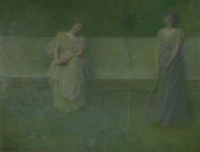 Thomas Wilmer Dewing, 'The Song', 1891