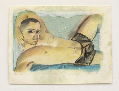 Louis Fratino, 'Nude in black shorts', 2020