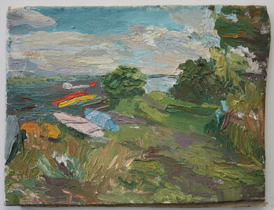Stanley Lewis, 'Afternoon Study of Boats'