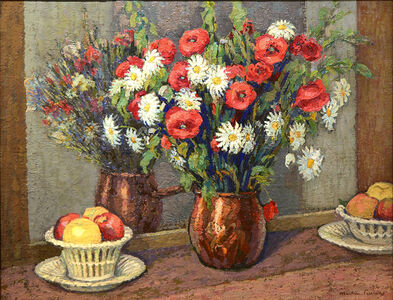 Jac Martin-Ferrieres, 'Coquelicots et Marguerites (Poppies and Daisies)', 1927