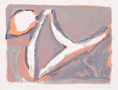 Bram van Velde, 'Abstract in orange and blue', 1969