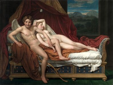 Jacques-Louis David, 'Cupid and Psyche', 1817