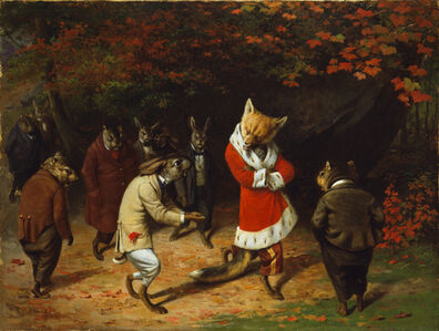 William Holbrook Beard, 'His Majesty Receives', 1885