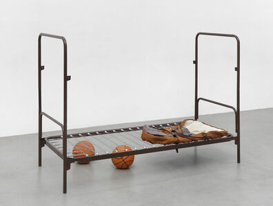 Thomas Rentmeister, 'Two ball total equilibrium cot', 2018