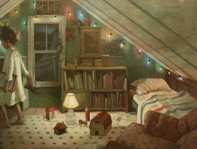 Shawn Fields, 'Honey's Room, Horses', not dated