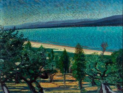 Gerardo Dottori, 'Landscape with lake', 1940