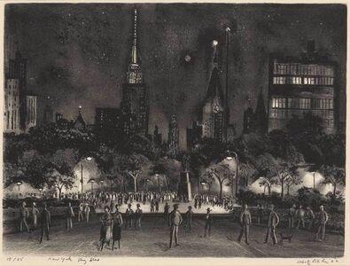 Adolf Arthur Dehn, 'New York Sky Line (L./O. 490)', 1952