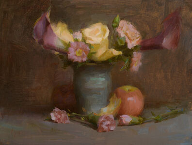 Susan Lyon, 'Yellow Roses and Purple Lilies', ca. 2020