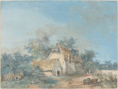 Louis Gabriel Moreau (Louis-Gabriel Moreau, called Moreau l'Ainé), 'Landscape', probably c. 1780