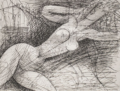 Marcel Gromaire, 'Nu assis, penché à droite (Nude Sitting, Leaning to the Right)', 1960