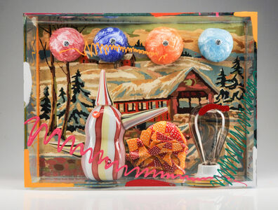 Richard Marquis, 'PAINT BY NUMBERS WITH SNOWBALLS, WEIRD TEAPOT AND LIGHT BULB', 2016