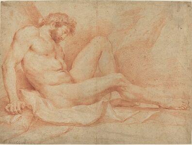 Andrea Sacchi, 'Academic Nude Study of a Seated Male'