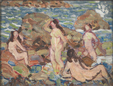 Maurice Brazil Prendergast, 'Four Nudes at the Seashore', 1910-1913