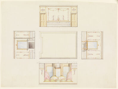 Frederick Crace, 'Design for Ceiling and Four Walls of Room', 1815-1822