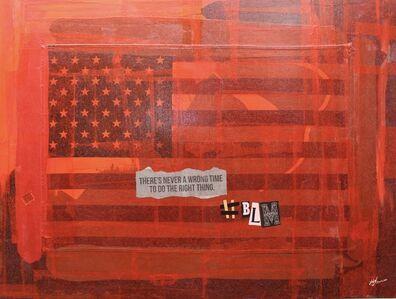 """Ligel Lambert, 'Work # 14, """"#BLM.""""', 2020"""
